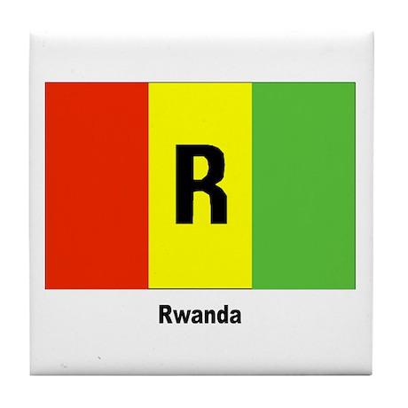Rwanda Flag Tile Coaster