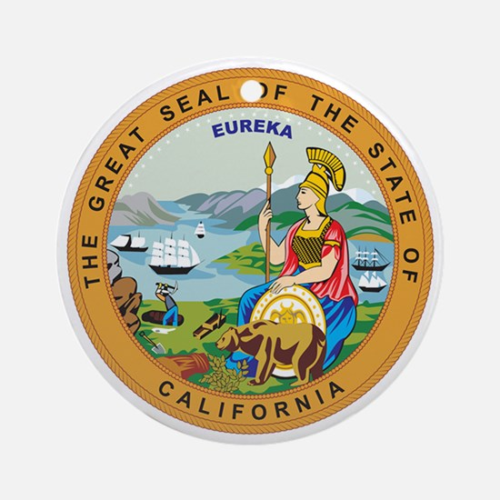 CALIFORNIA-SEAL Ornament (Round)
