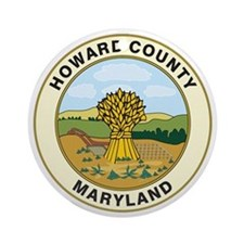 HOWARD-COUNTY-SEAL Ornament (Round)