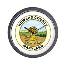 HOWARD-COUNTY-SEAL Wall Clock
