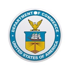 DEPARTMENT-OF-COMMERCE-SEAL Ornament (Round)