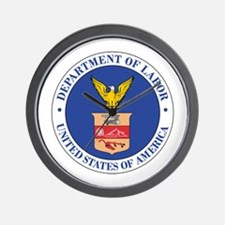DEPARTMENT-OF-LABOR-SEAL Wall Clock