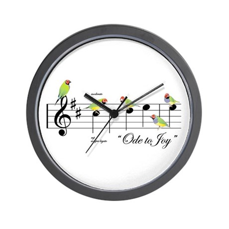 Ode to the Joy of Gouldian Finches Wall Clock