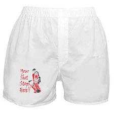 Hockey Goalie - Red -  Boxer Shorts