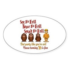 Party 39th Oval Decal