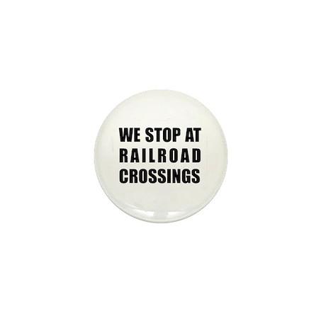 RR Crossing Sign Mini Button