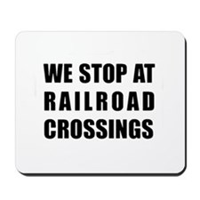 RR Crossing Sign Mousepad