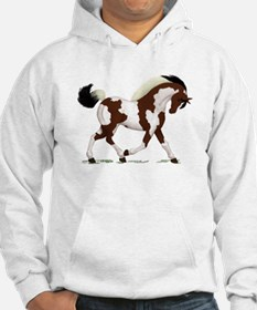 Bay Tobiano Pinto Horse Hoodie