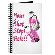 Hockey Goalie - Pink - Journal