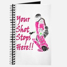 Hockey Goalie - Pink - Journal