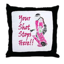 Hockey Goalie - Pink - Throw Pillow