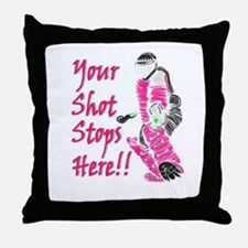 Hockey Goalie - Pink - Throw Pillow