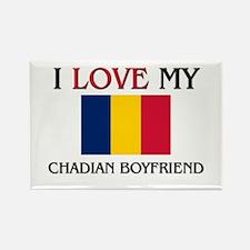 I Love My Chadian Boyfriend Rectangle Magnet