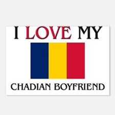 I Love My Chadian Boyfriend Postcards (Package of