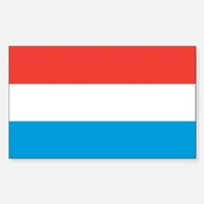 LUXEMBOURG Rectangle Decal