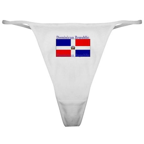 Dominican Republic Flag Classic Thong