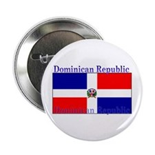 "Dominican Republic Flag 2.25"" Button (100 pack)"