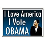 I Love America, I Vote Obama Banner