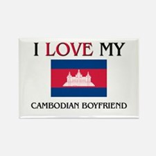 I Love My Cambodian Boyfriend Rectangle Magnet