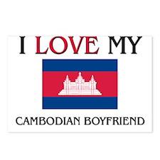 I Love My Cambodian Boyfriend Postcards (Package o