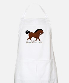 Bay Clydesdale Horse BBQ Apron