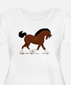 Bay Clydesdale Horse T-Shirt