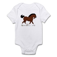 Bay Clydesdale Horse Infant Bodysuit