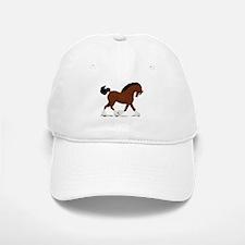 Bay Clydesdale Horse Baseball Baseball Cap