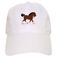 Bay Clydesdale Horse Baseball Cap