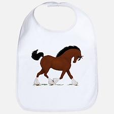 Bay Clydesdale Horse Bib