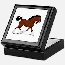 Bay Clydesdale Horse Keepsake Box