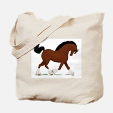 Bay Clydesdale Horse Tote Bag
