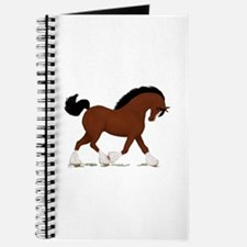 Bay Clydesdale Horse Journal