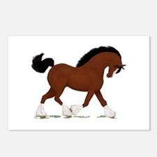 Bay Clydesdale Horse Postcards (Package of 8)