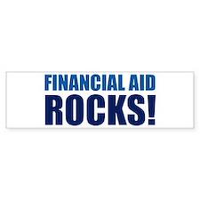 Financial Aid Rocks! Bumper Bumper Sticker