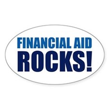 Financial Aid Rocks! Oval Decal
