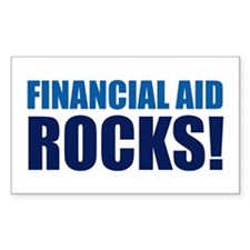 Financial Aid Rocks! Rectangle Decal
