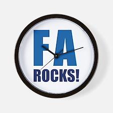 Financial Aid Rocks! Wall Clock