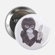 MONKEY WITH BANANA Button