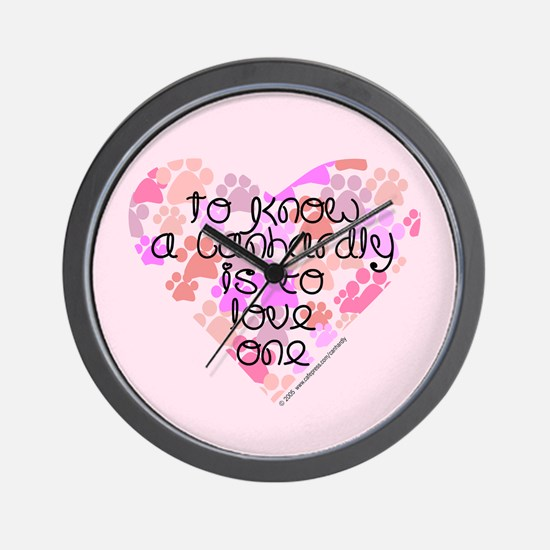 Know, love Canhardly Wall Clock