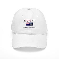 I Love My British Virgin Islander Boyfriend Baseball Cap