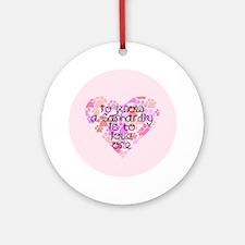 Know, love Canhardly Keepsake (Round)