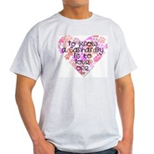 Know, love Canhardly Ash Grey T-Shirt