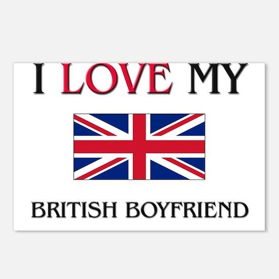 I Love My British Boyfriend Postcards (Package of