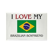 I Love My Brazilian Boyfriend Rectangle Magnet