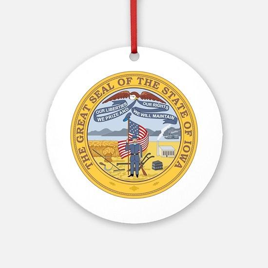 IOWA-SEAL Ornament (Round)