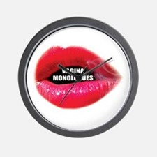 Vagina Monologues Wall Clock