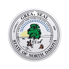 NORTH-DAKOTA-SEAL Ornament (Round)