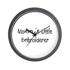 Mommy's Little Embroiderer Wall Clock