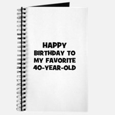 Happy Birthday To My Favorite Journal
